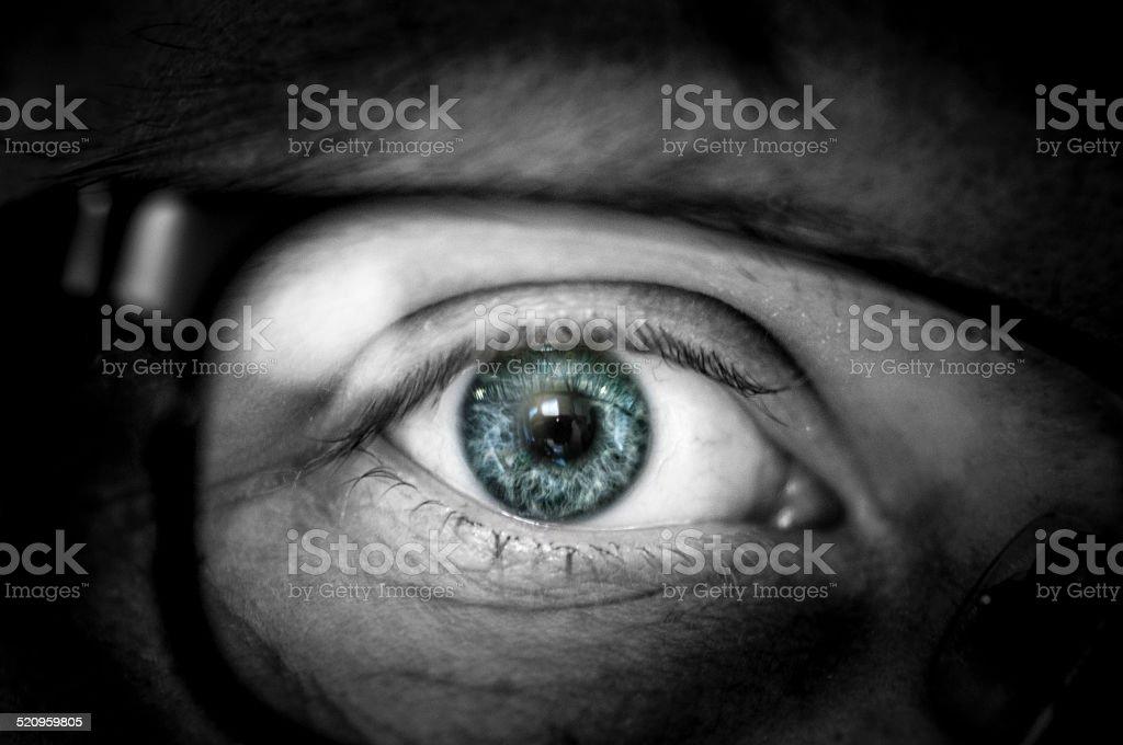 Human Eye Wearing Glasses stock photo