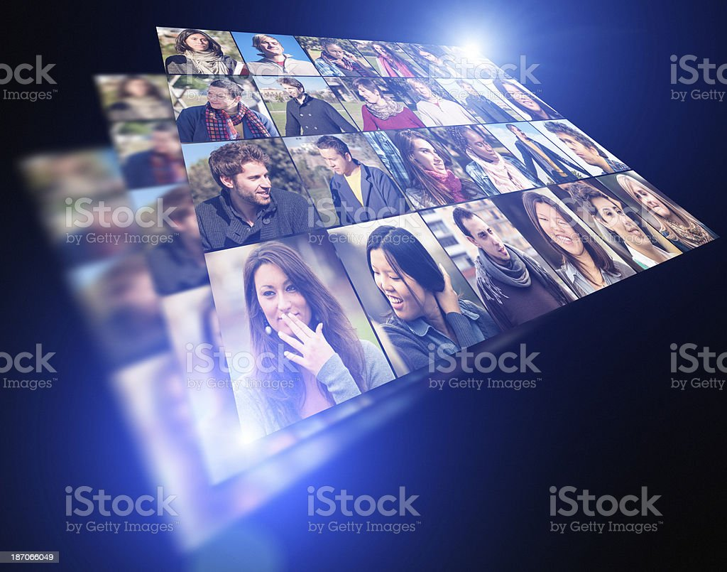 Human face multiple layer royalty-free stock photo