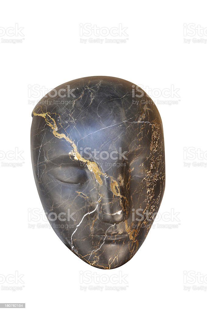 Human face statue royalty-free stock photo