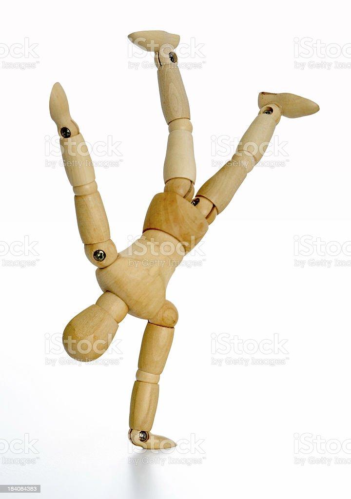human figure (upsidedown) royalty-free stock photo
