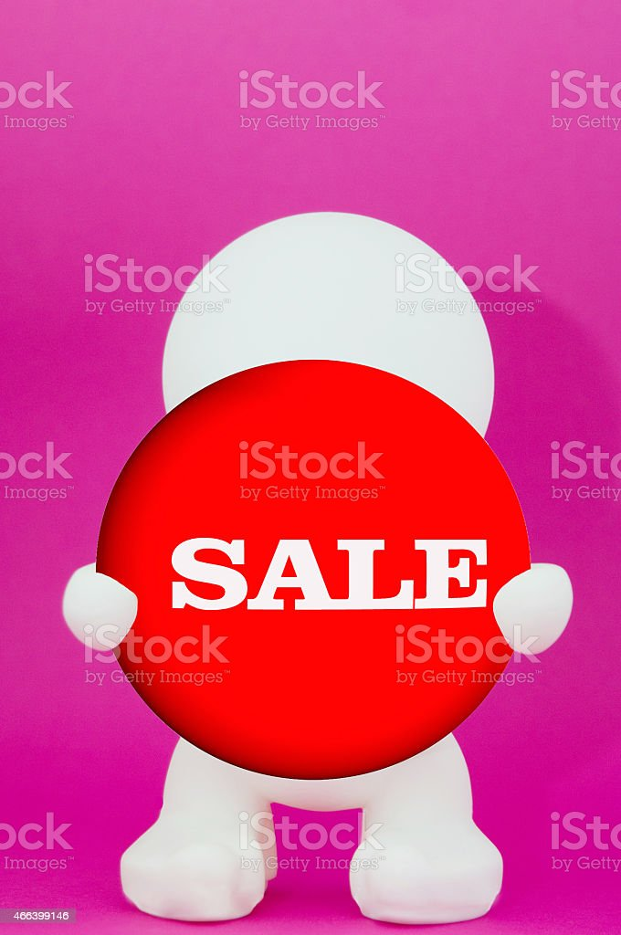 human figure with Sale - character stock photo