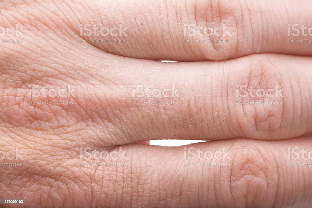 human fingers joints macro royalty-free stock photo
