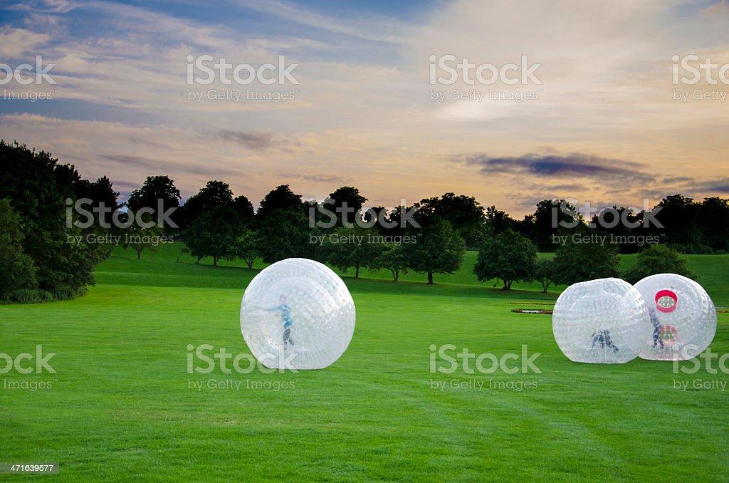 Human Hamsterballs stock photo