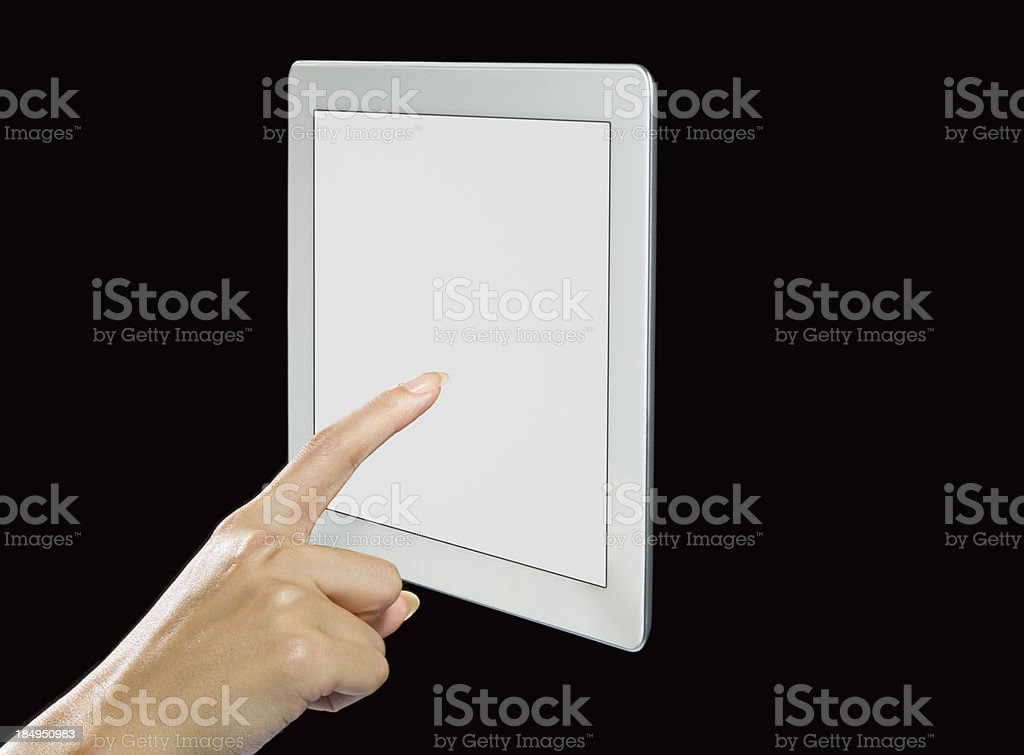 Human Hand and Tablet PC royalty-free stock photo