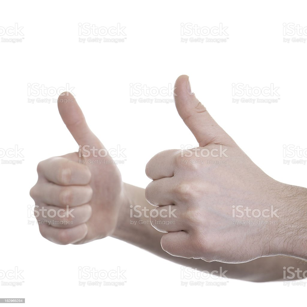 Human hand giving ok royalty-free stock photo