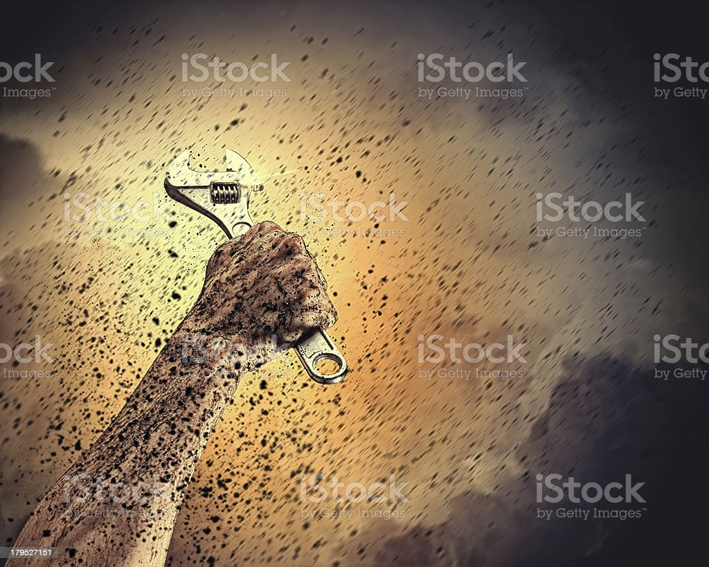 Human hand holding royalty-free stock photo