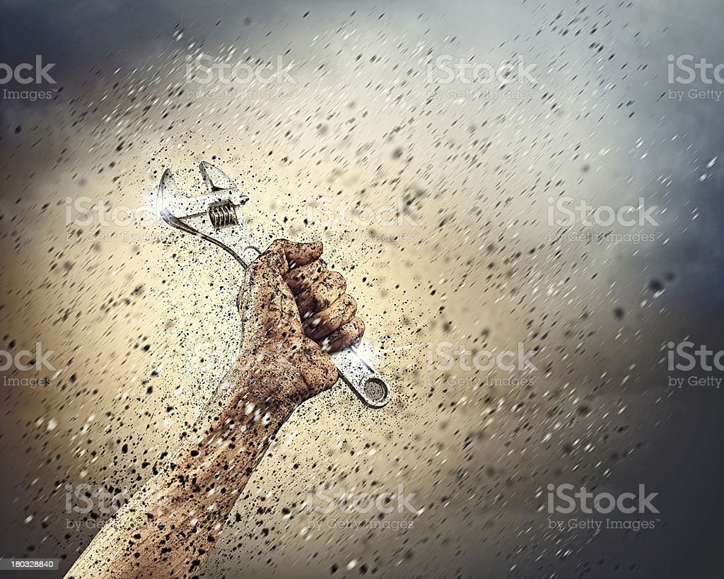 Human hand holding royalty-free stock photo