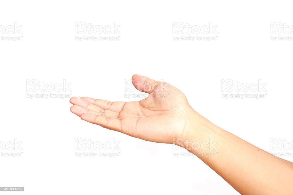 Human hand isolated stock photo
