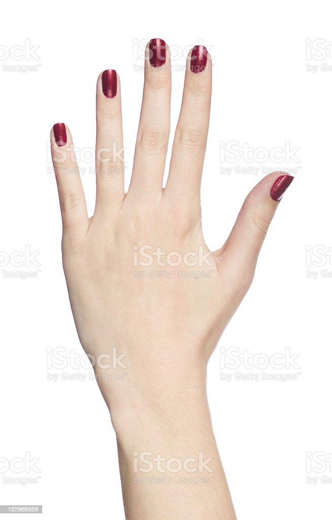 Human hand stock photo