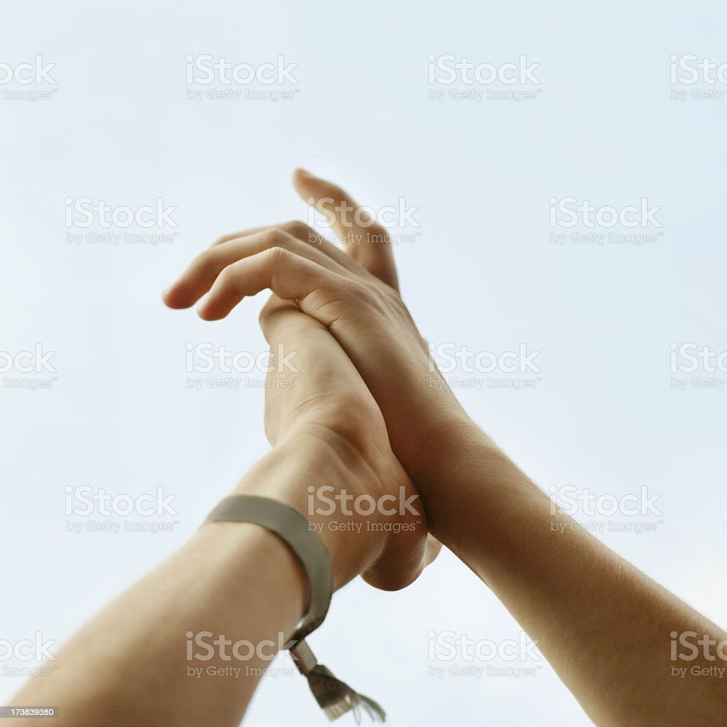 Human Hands in a Concert royalty-free stock photo