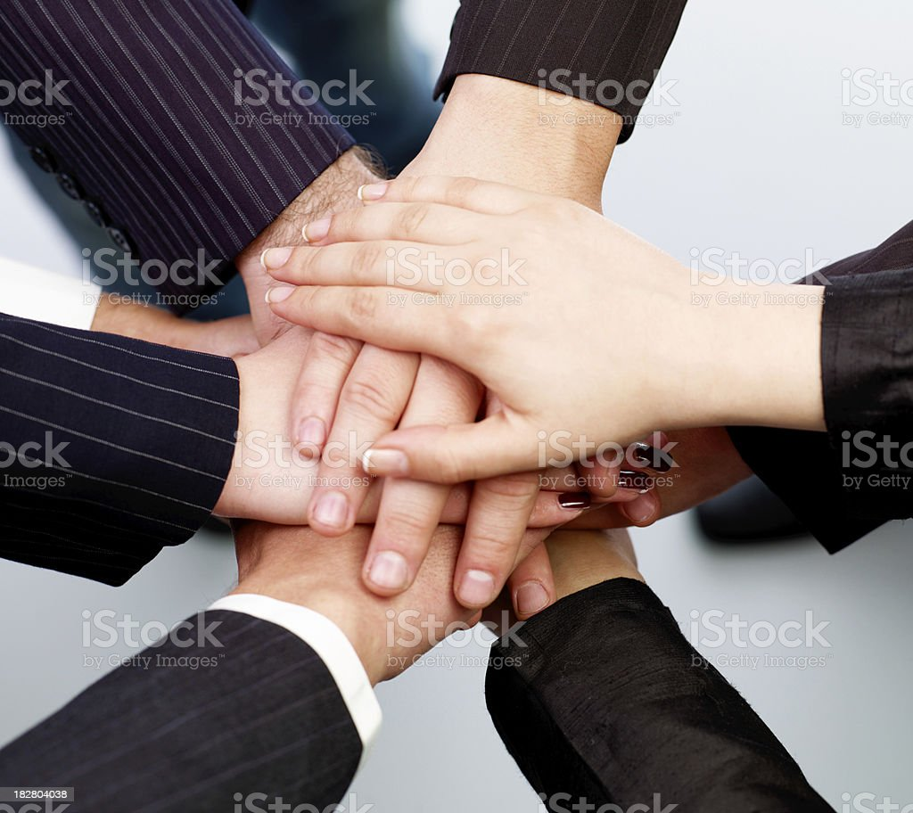 Human hands in unity royalty-free stock photo