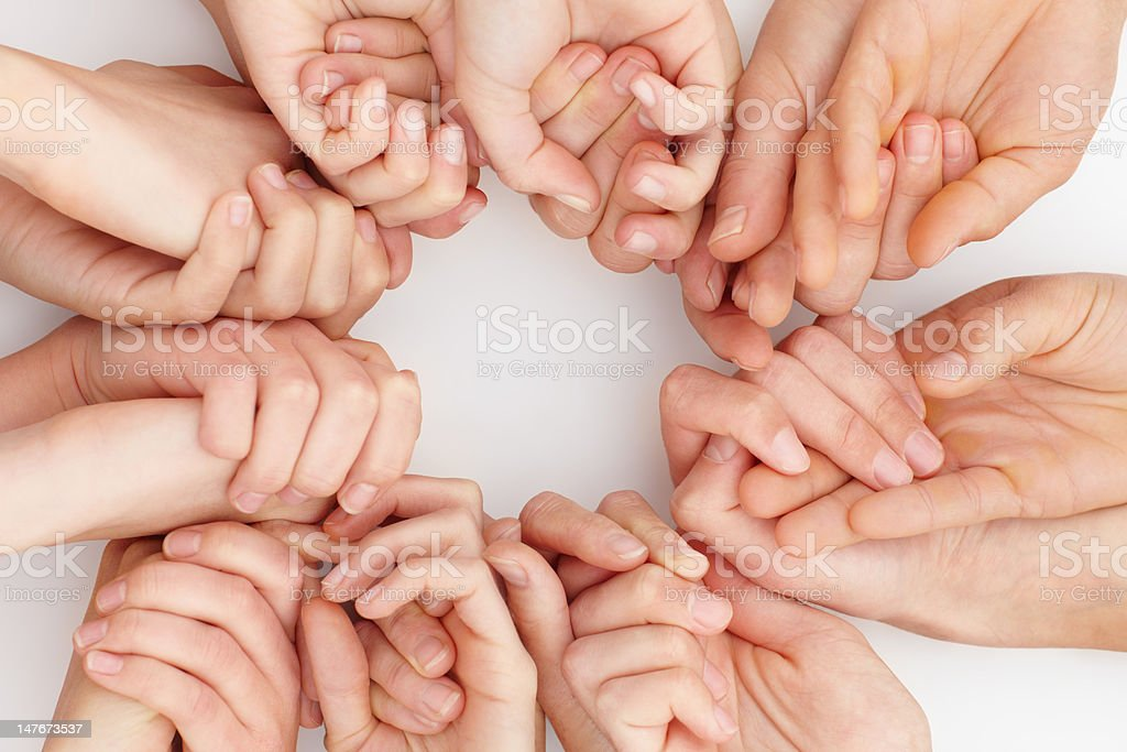 Human hands on white background royalty-free stock photo