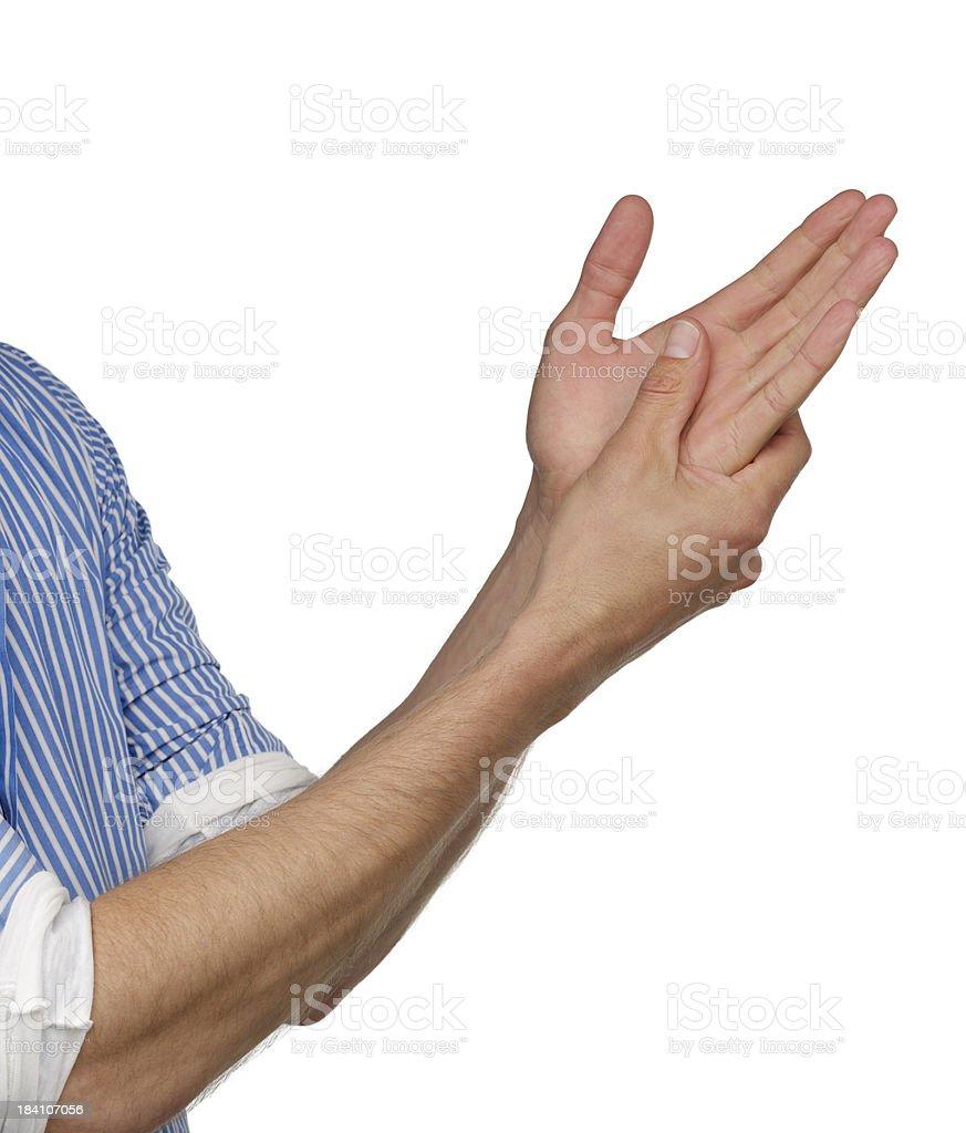 human Hands rubbing royalty-free stock photo