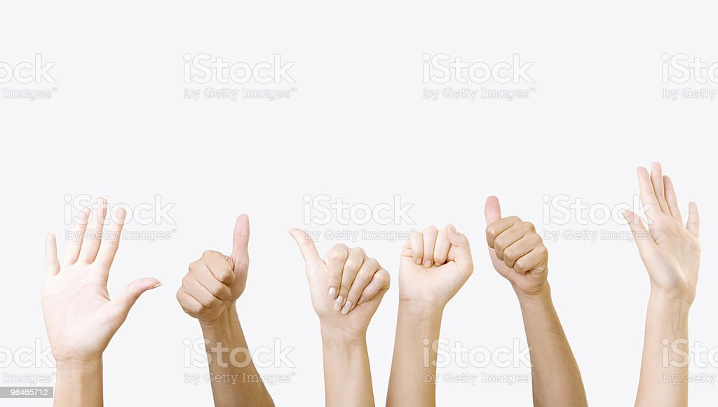 Human hands series royalty-free stock photo