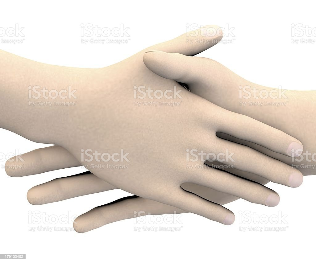 human hands - shaking royalty-free stock photo