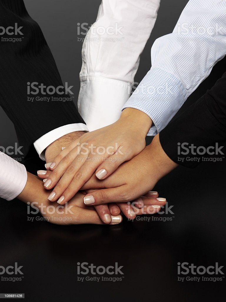 Human Hands Showing Unity royalty-free stock photo