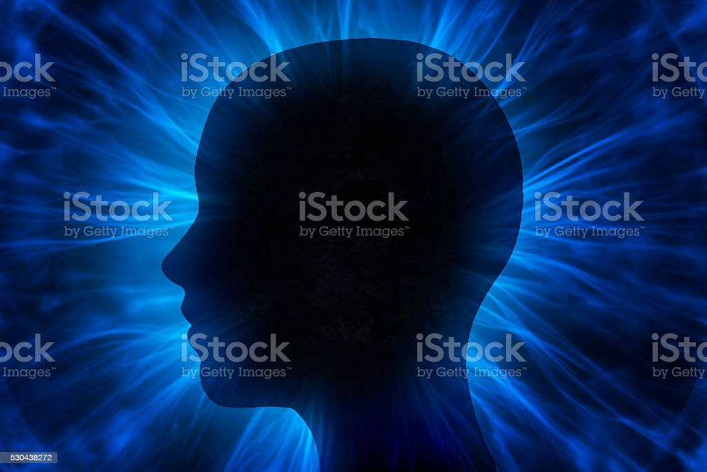 Human head stock photo