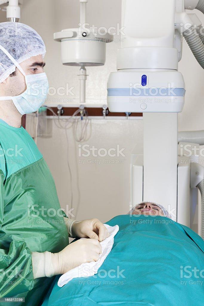human heart angio stock photo