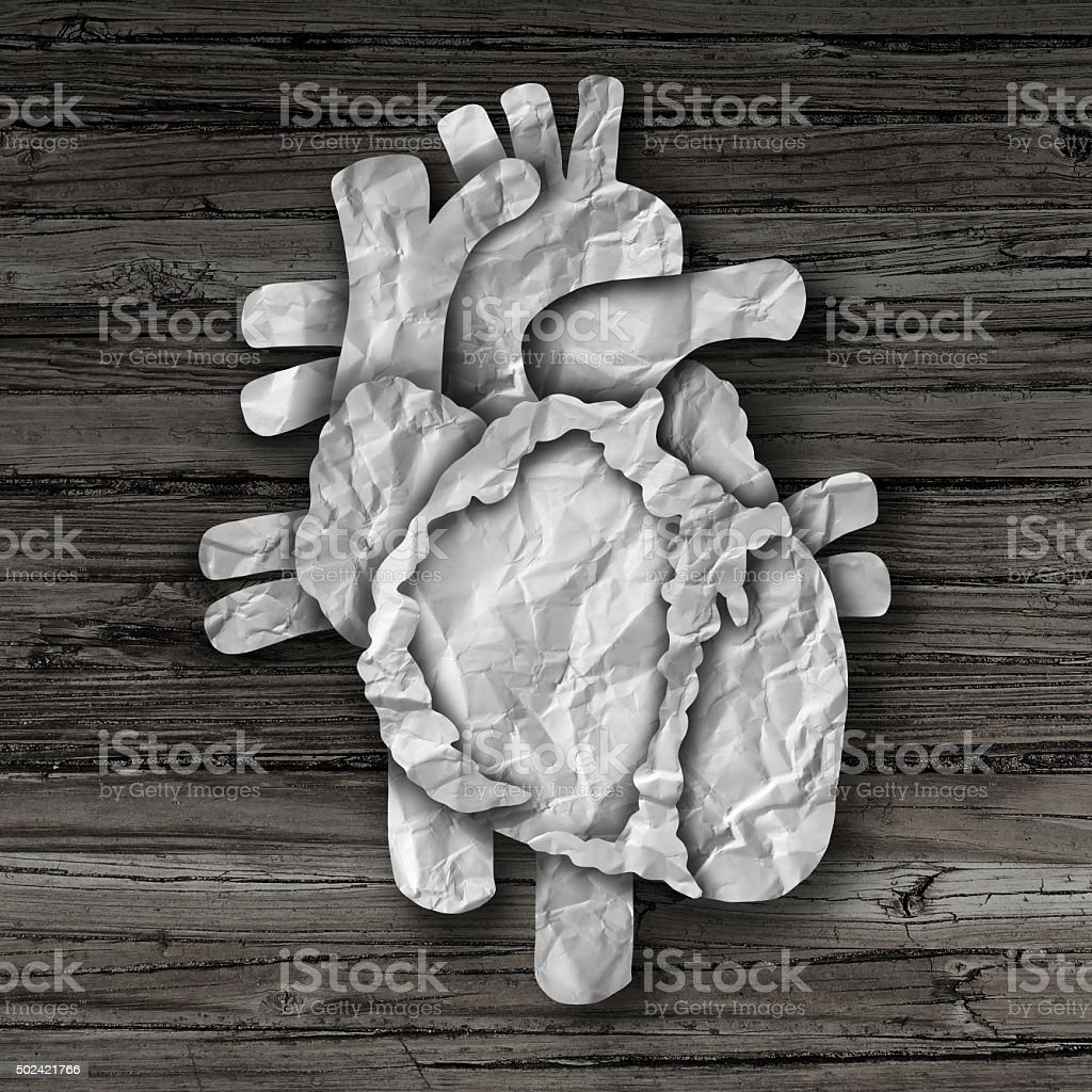 Human Heart Organ Concept stock photo