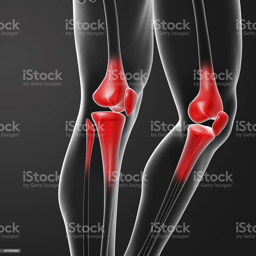 Human knee pain stock photo