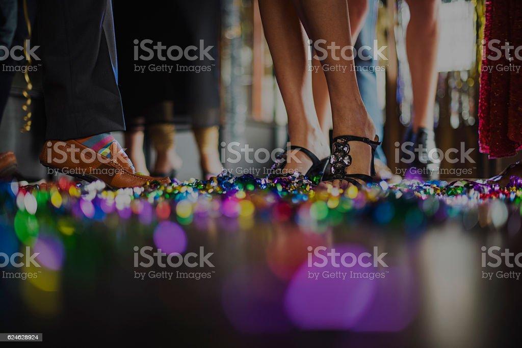 Human Leg Dance Hall Party Recreation Concept stock photo