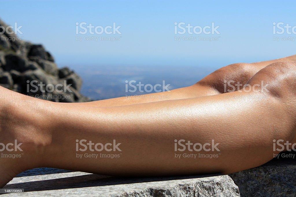 Human legs stock photo