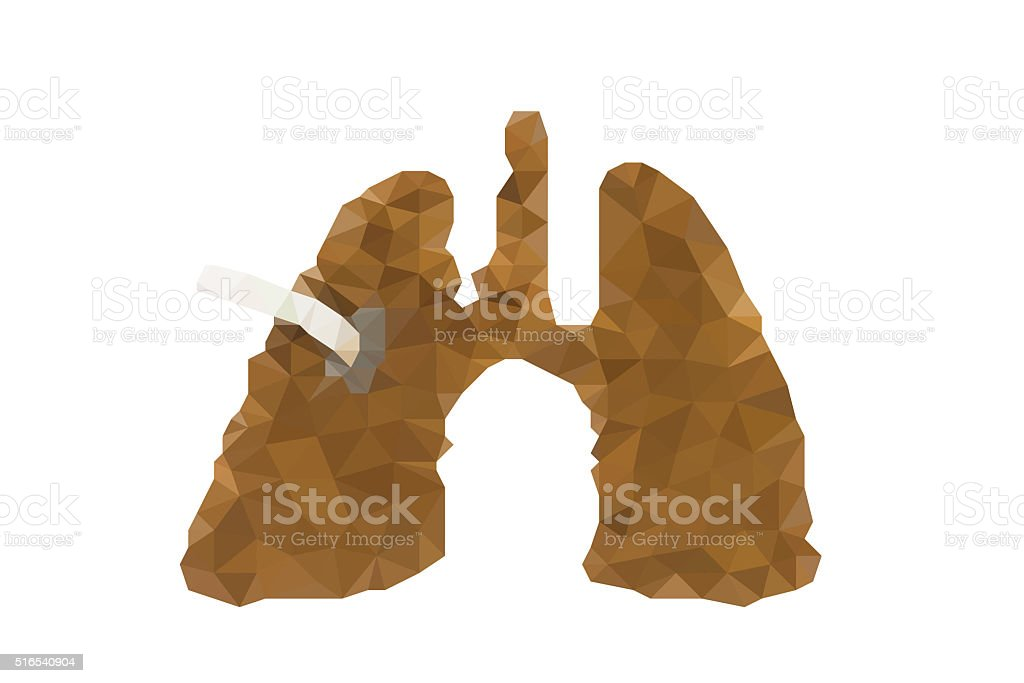 human lung and cancer made by tobacco and cigarette stock photo