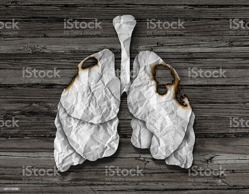 Human Lung Cancer Concept stock photo