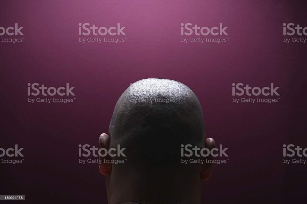 Human - Male head royalty-free stock photo