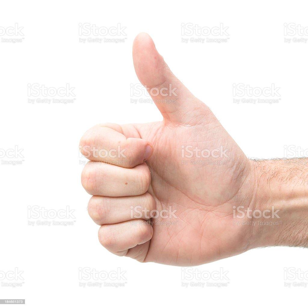 Human Man Thumb Up royalty-free stock photo