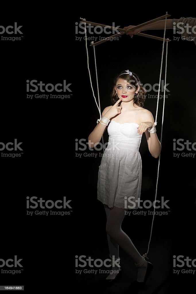Human Marionette Doll stock photo