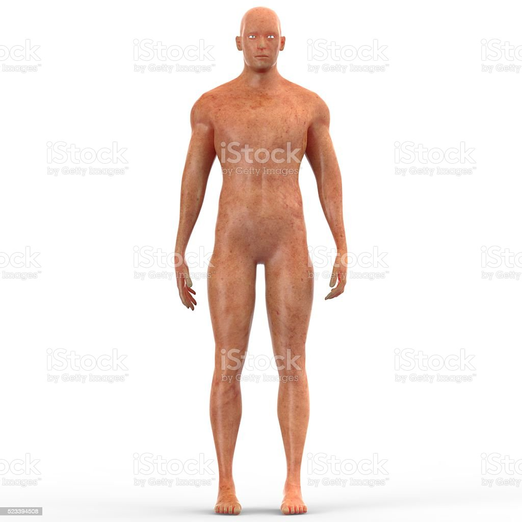 Human Muscle Body with Skin Disease stock photo