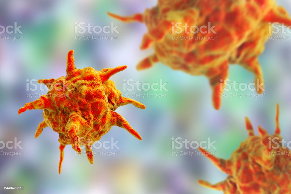 Human or animal pathogenic viruses stock photo