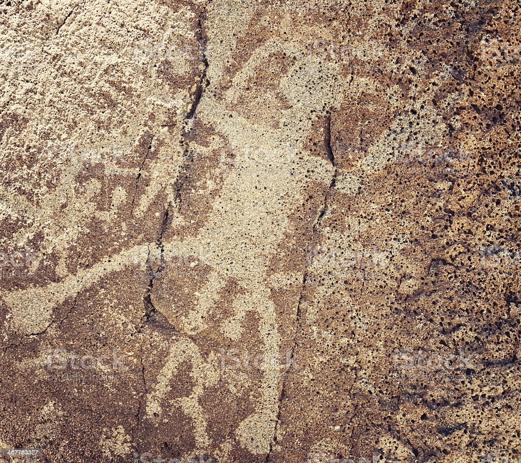 Human Pictogram - Petroglyph National Monument royalty-free stock photo