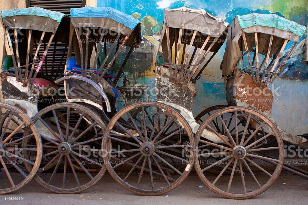 Human Powered Rickshaws royalty-free stock photo