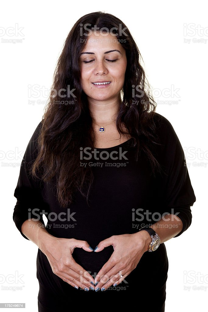 Human Pregnancy royalty-free stock photo
