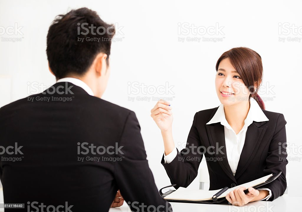 Human resource concept and Job interview stock photo