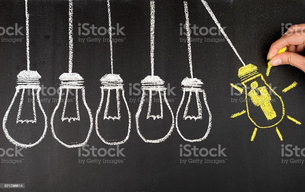 Human Resource Idea Bulb Concepts stock photo