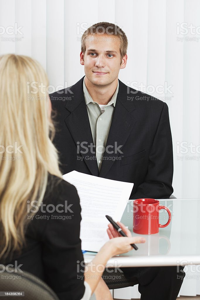 A business meeting and Interview. A human resource recruitment...