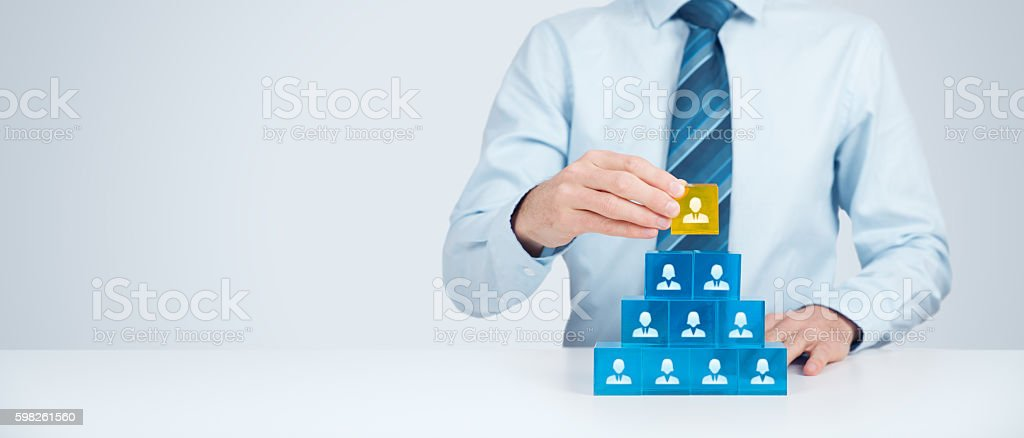 Human resources and CEO stock photo