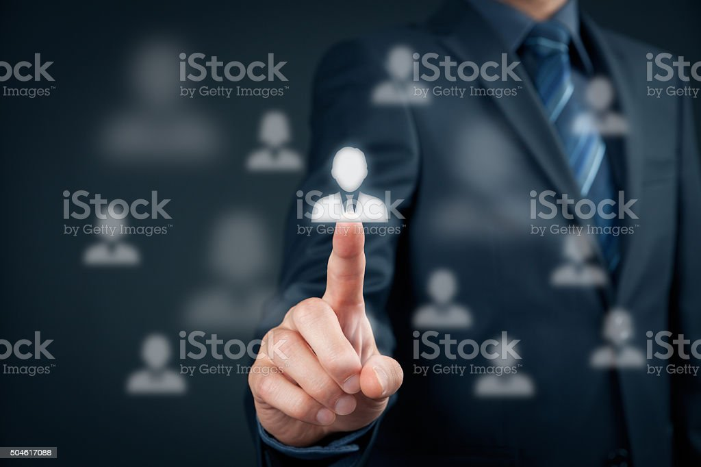 Human resources and leader stock photo