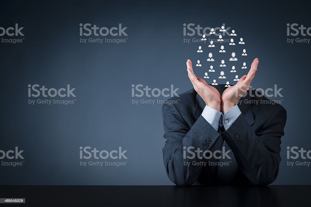 Human resources and team concept stock photo