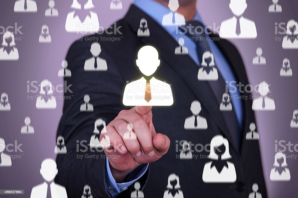 Human Resources Concept on Virtual Screen stock photo
