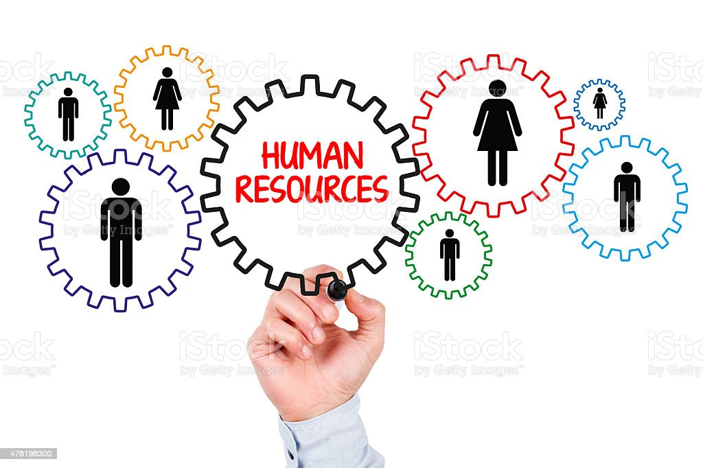 Human Resources Concept with Gears stock photo