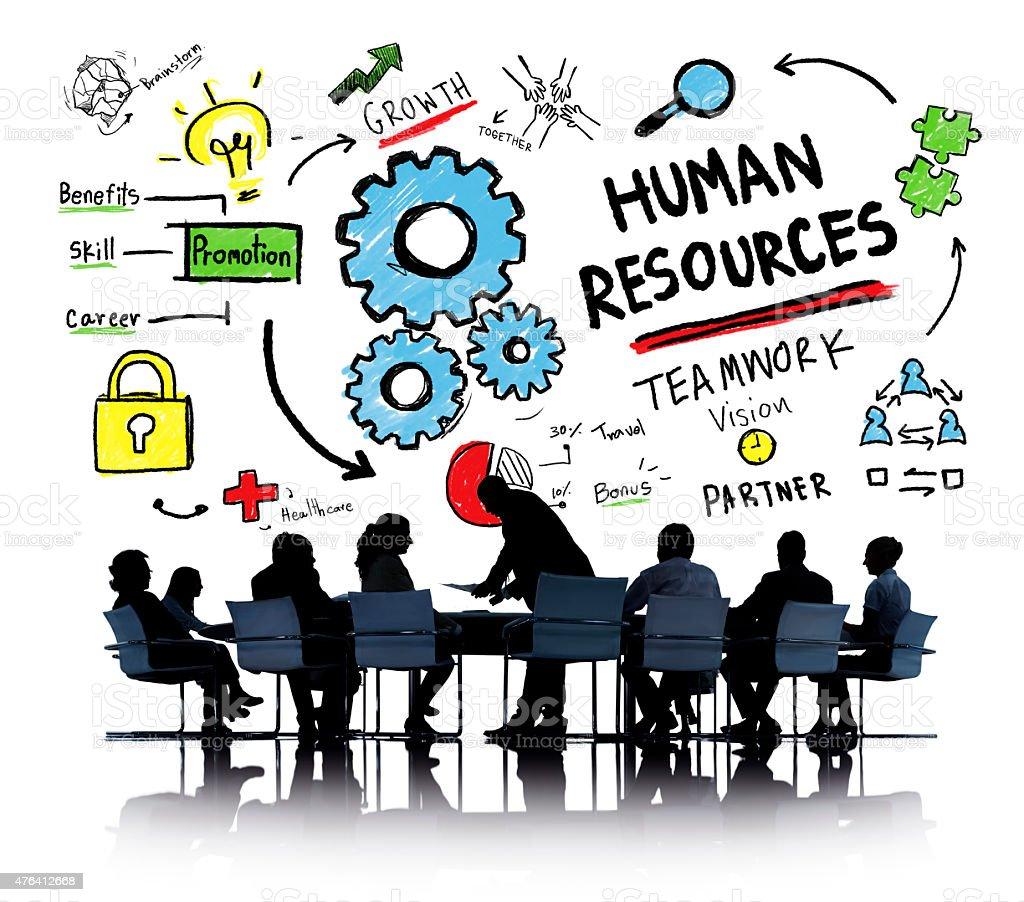 Human Resources Employment Job Teamwork Business Meeting Concept stock photo