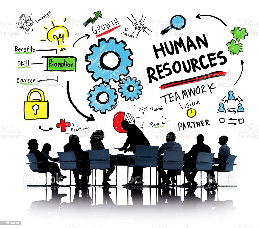 Human Resources Employment Job Teamwork Business Meeting Concept stock photo