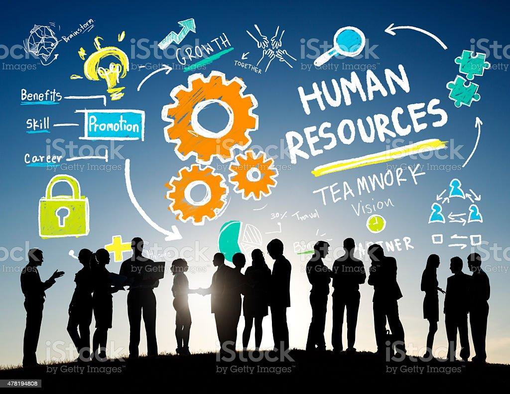 Human Resources Employment Teamwork Business People Communicatio stock photo