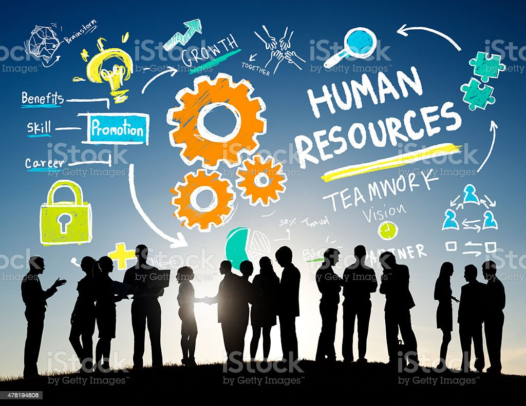 Human Resources Employment Teamwork Business People Communicatio stock photo