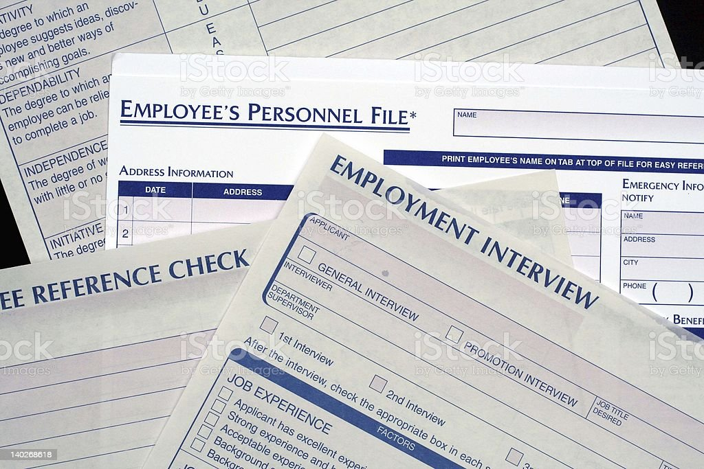 Human Resources Forms stock photo