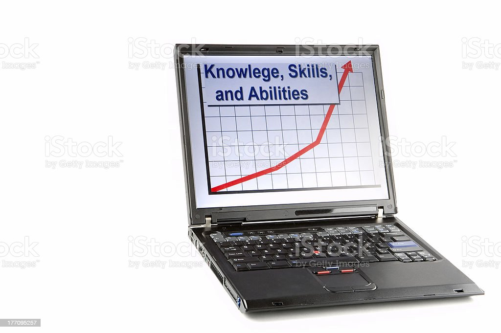 Human Resources Laptop Isolated stock photo